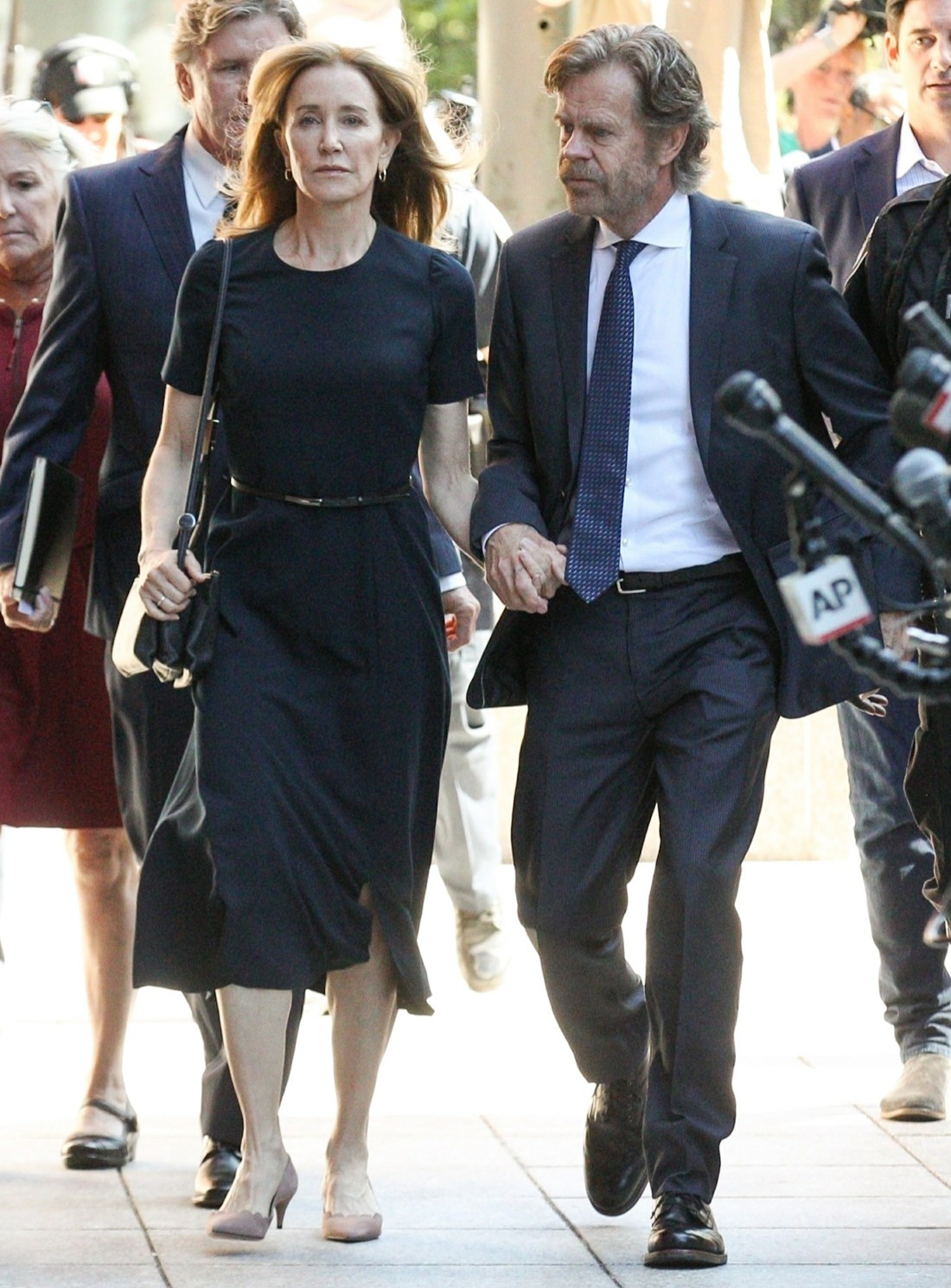 Felicity Huffman and William H Macy enter Federal Court ahead of sentencing for Felicity's part in the college admission scandal!