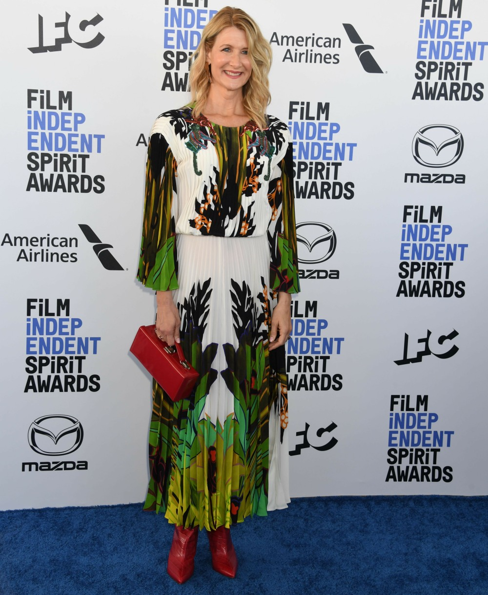 Laura Dern arrives at the 2020 Film Independent Spirit Awards, held on the beach in Santa Monica, Ca...