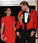 Prince Harry and Meghan Markle are seen at the Mountbatten Festival of Music
