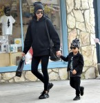 Naya Rivera sweetly holds hands with her son as they go shopping