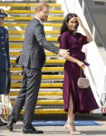 The Duke and Duchess of Sussex board a flight to New Zealand